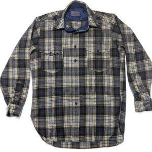 Pendleton Mens M 100% Wool Long Sleeve Shirt EUC